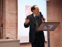 Pablo Martínez Vila en la entrega del premio Unamuno